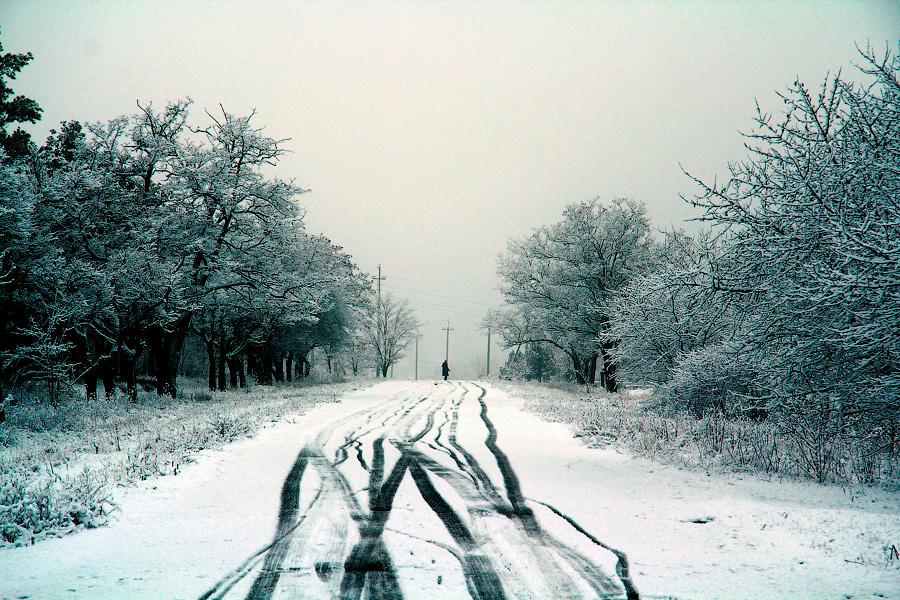 """фото """"Зимняя дорога или тяжкий крест"""" метки: пейзаж,"""