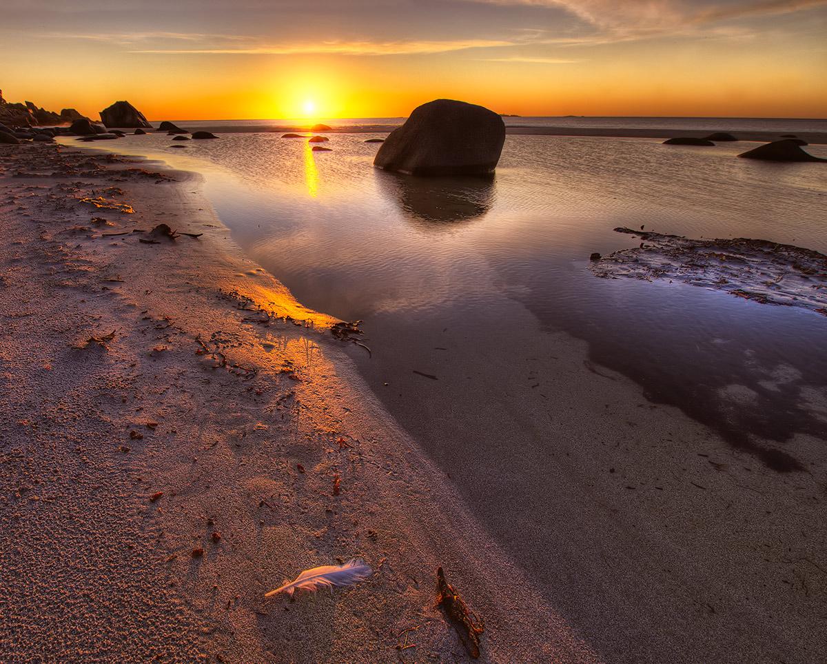 "photo ""Lofoten"" tags: landscape, Europe, sea, summer, sunset"