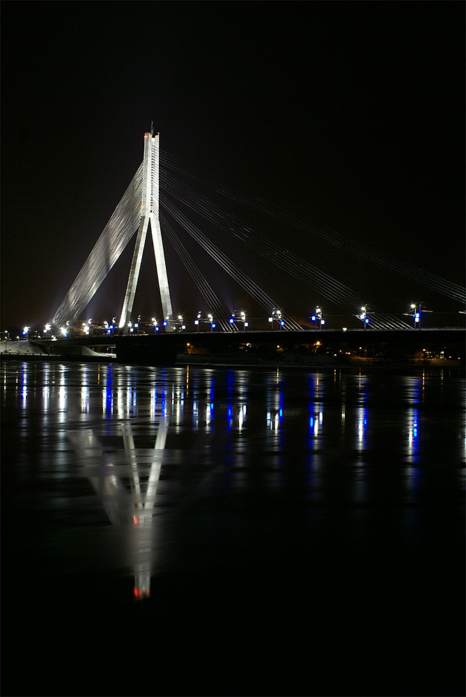 "photo ""Мост"" tags: architecture, city, landscape, bridge, night, water, winter"