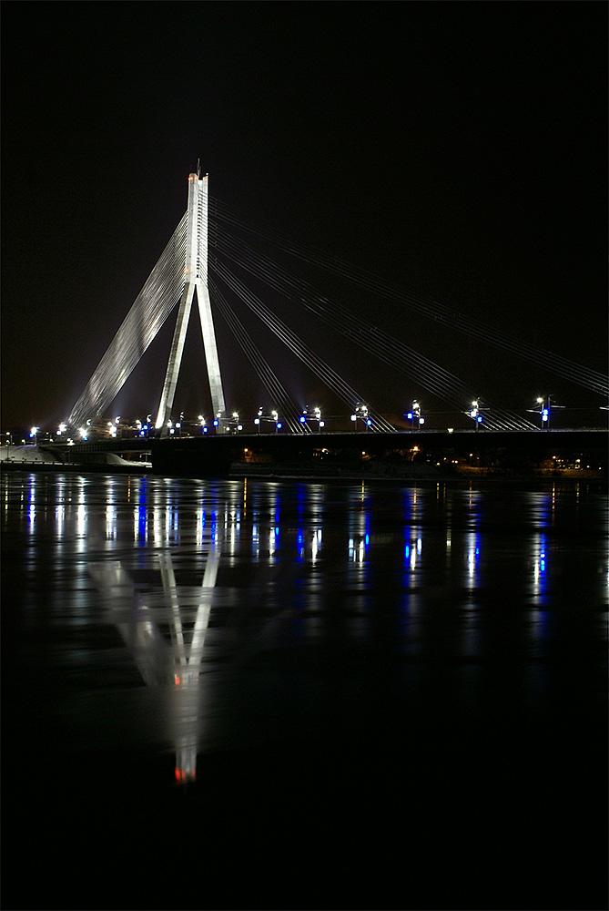"фото ""Мост"" метки: архитектура, город, пейзаж, вода, зима, мост, ночь"