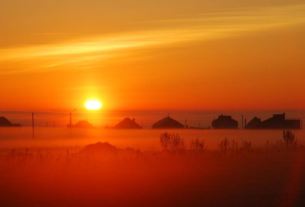 """фото """"Золотой туманный рассвет"""" метки: пейзаж,"""