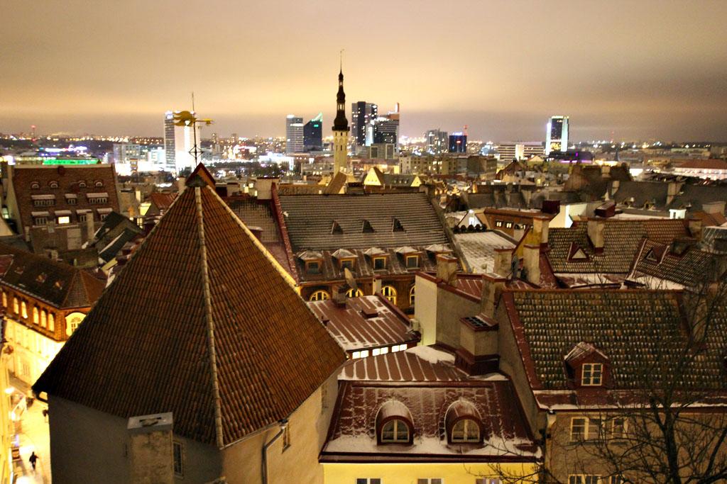 "фото ""Ночной Таллин"" метки: путешествия,"
