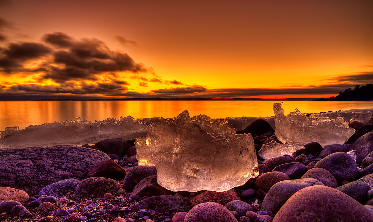 "фото ""***"" метки: пейзаж, Europe, Ice, закат"