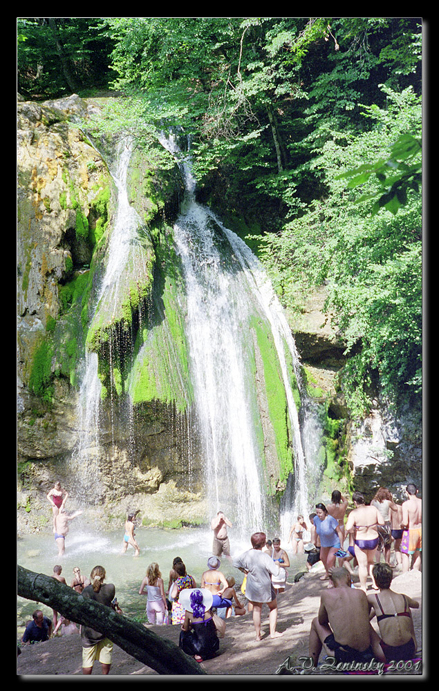 "photo ""At the waterfall Jur-Jur"" tags: landscape, travel, nature, Europe, children, forest, people, summer, water"