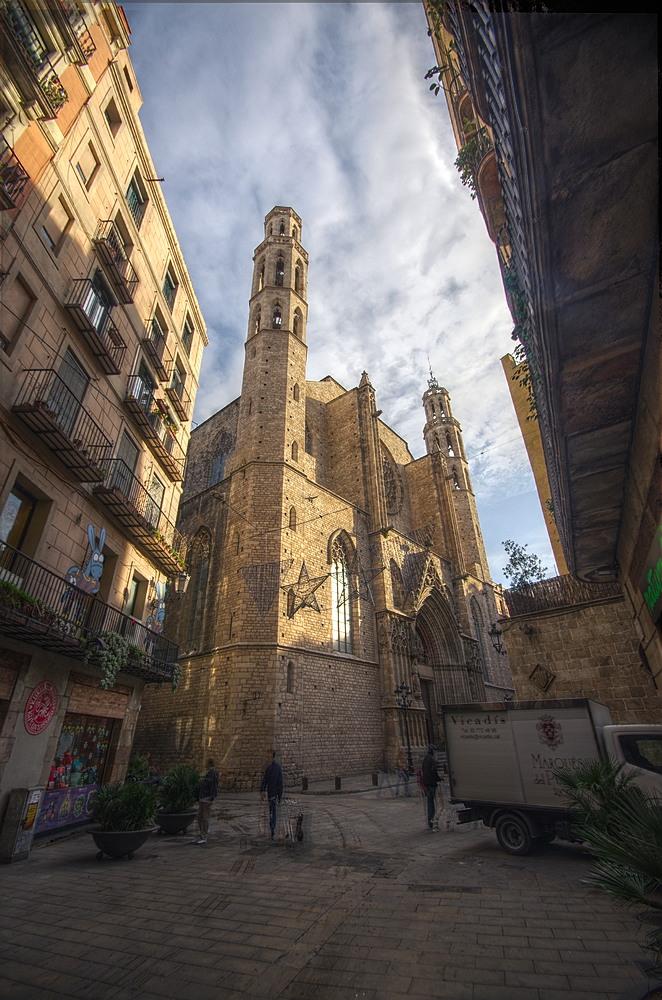 """фото """"Santa Maria del Mar"""" метки: архитектура, город, путешествия,"""