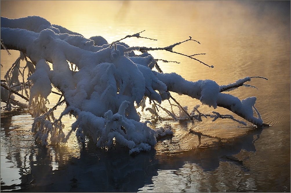 "фото ""***"" метки: пейзаж, природа, вода, зима, снег, туман"