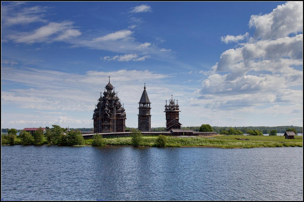 """фото """"Кижи. Храмы."""" метки: пейзаж, архитектура, путешествия,"""