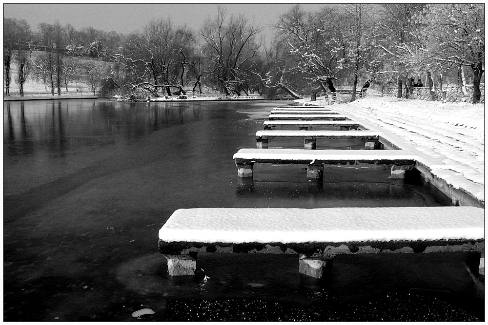 "photo ""***"" tags: landscape, Bucharest, lake, parks, snow, trees, winter"