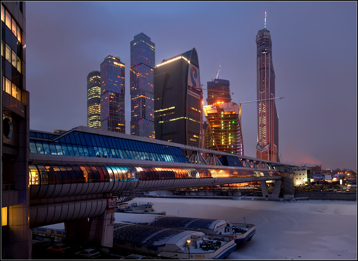 "фото ""зимний вечер в Москве"" метки: архитектура, город,"