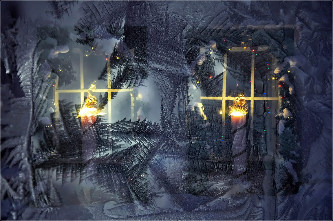 Картинки свеча в окне зимой