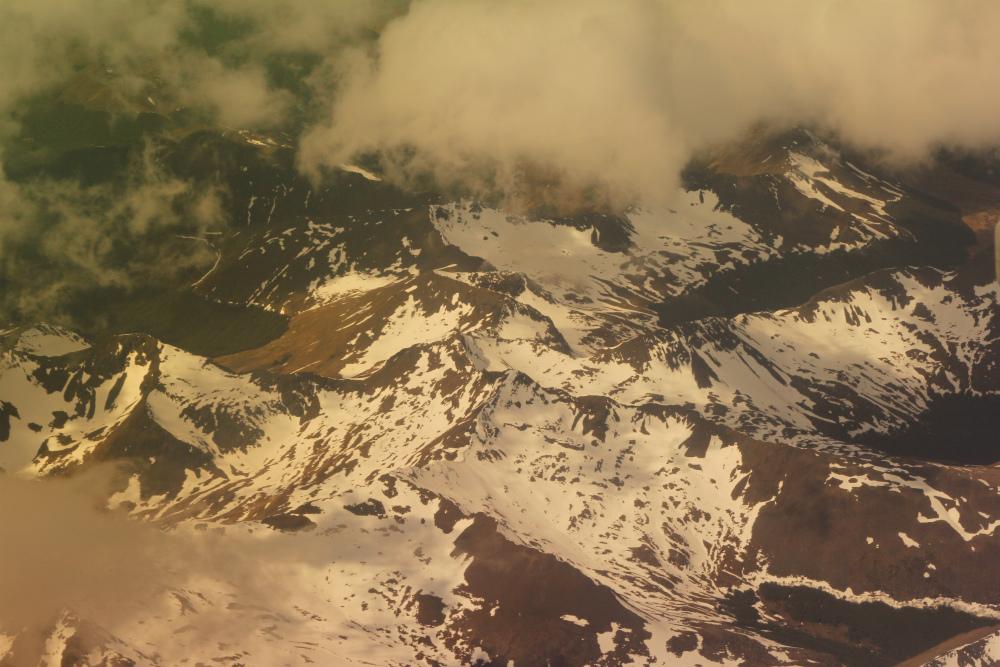 """фото """"Волны земной коры"""" метки: пейзаж, абстракция, путешествия, Аргентина, самолёт"""