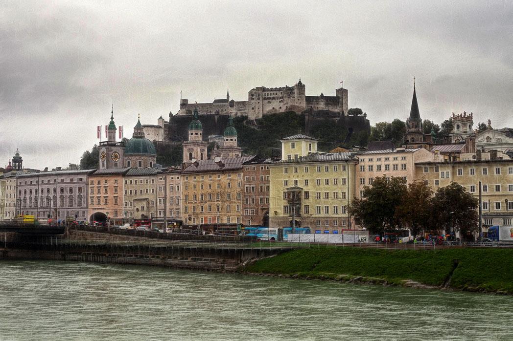 "фото ""Зальцбург"" метки: путешествия, Австрия, Зальцбург, крепость, река"