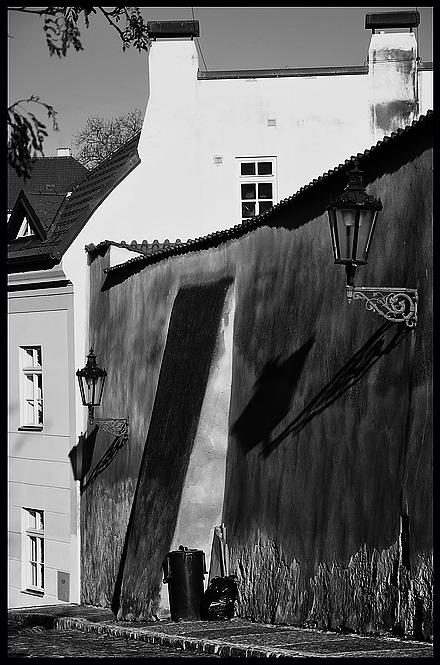 "фото ""Пражский тихое место-4"" метки: черно-белые, Prag, Praha, Прага"