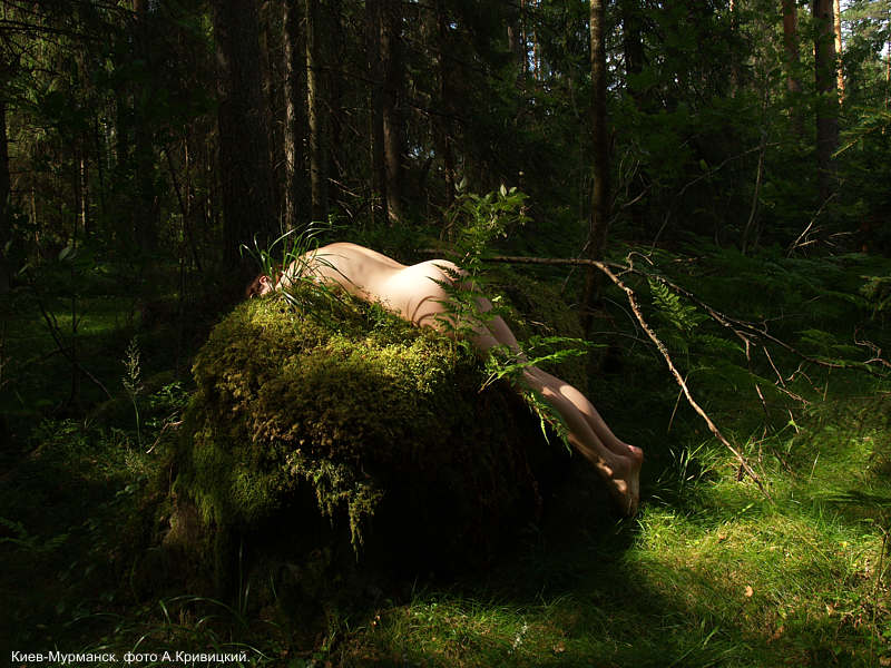 """photo """"Forest, naked girl"""" tags: nude, forest, naked girl"""
