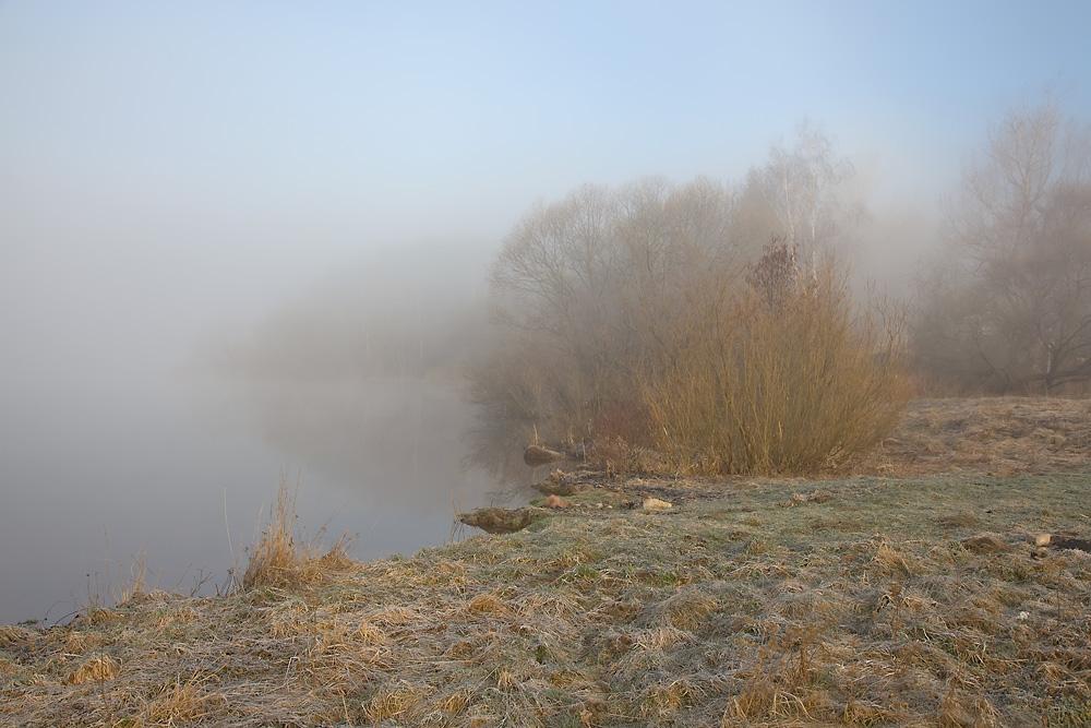 "фото ""Апрельское утро"" метки: пейзаж, Беларусь, Вилейское водохранилище, весна, туман, утро"