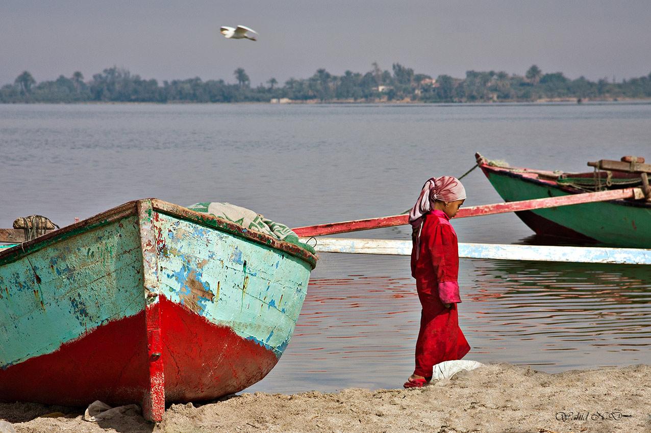 """фото """"Day Dream"""" метки: портрет, пейзаж, путешествия, Африка, вода, девушка, лодка"""