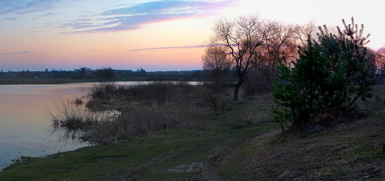 """фото """"Рассвело..."""" метки: пейзаж, весна, озеро, рассвет"""