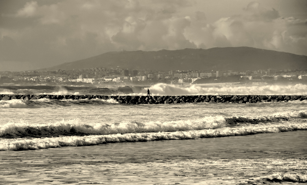 "photo """"Among Waves..."""" tags: landscape, black&white, nature,"