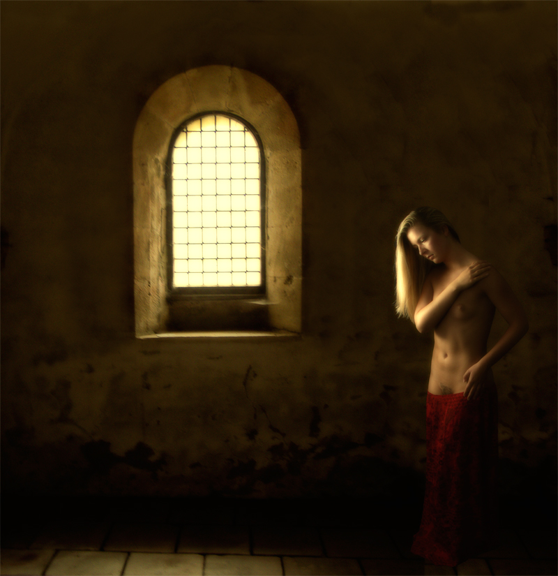 "фото ""Csilla am Fenster"" метки: ню, digital art,"
