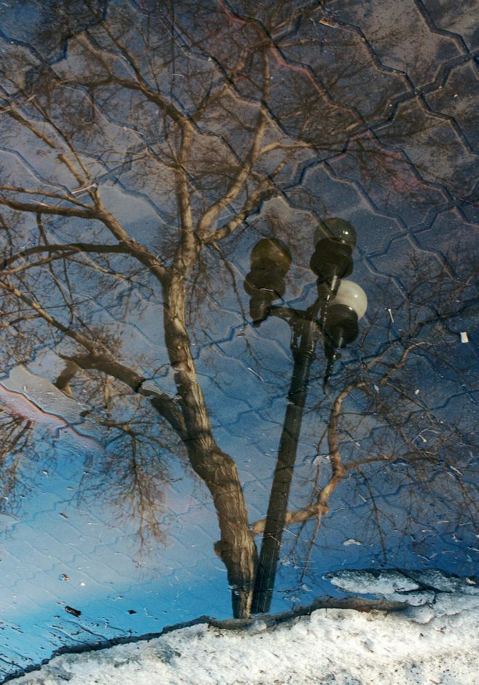 """фото """"Столб с фонарём."""" метки: природа, абстракция,"""