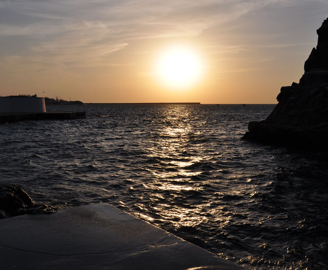 """фото """"Морской закат"""" метки: пейзаж, закат, море"""
