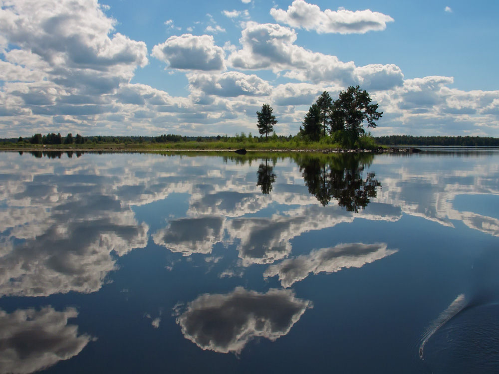"фото ""Зной"" метки: пейзаж, Карелия, Онежское озеро, лето, облака"