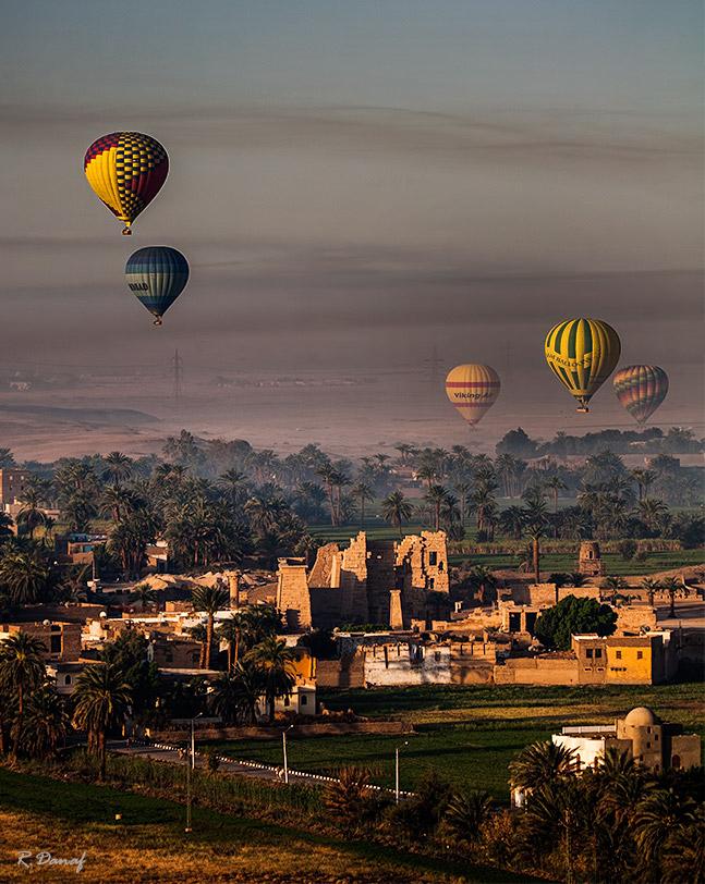 "фото ""Balloons over Luxor 2"" метки: путешествия, пейзаж, tourists, Африка"