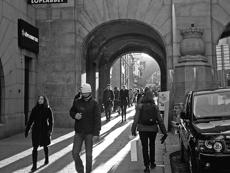 "photo ""Stockholm Street Life"" tags: travel, street, black&white,"