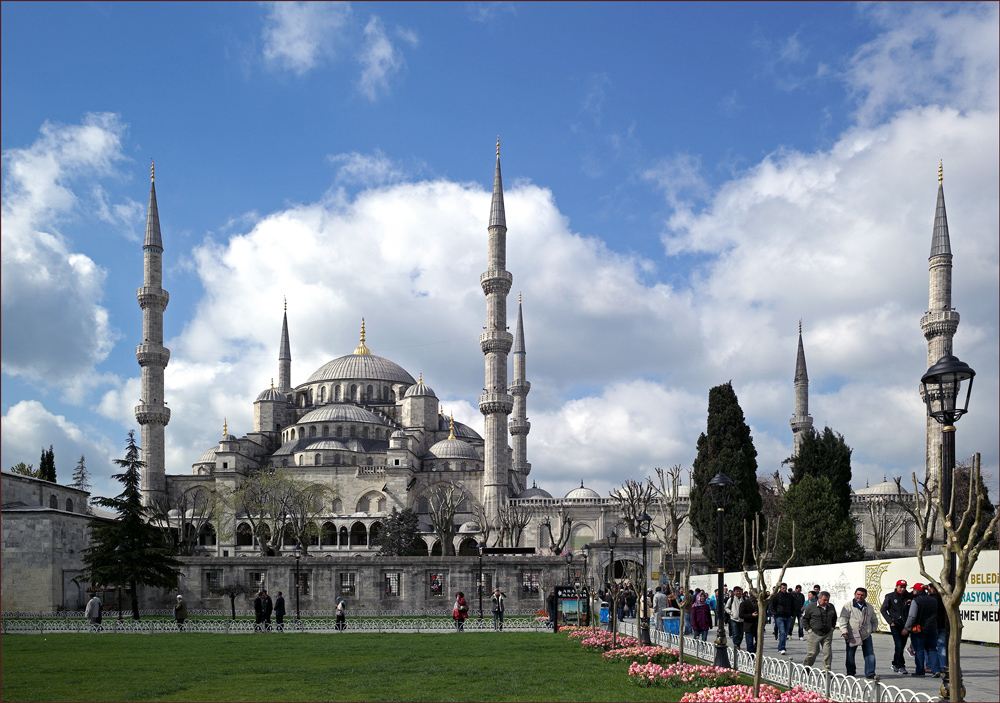 "photo ""The Blue Mosque"" tags: architecture, landscape, Голубая мечеть, Стамбул, Турция"