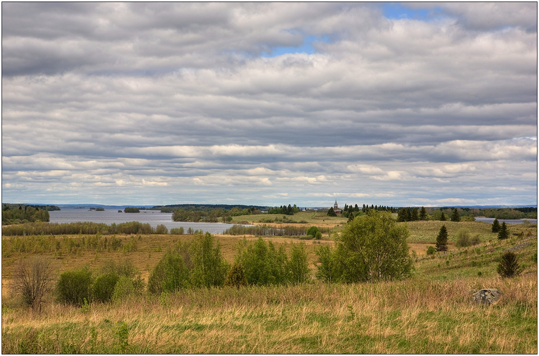 "photo ""After Onega distance"" tags: landscape, Karelia, spring"