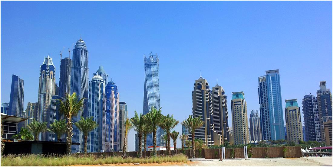 """photo """"Dubai's skyscrapers"""" tags: architecture, landscape, travel,"""