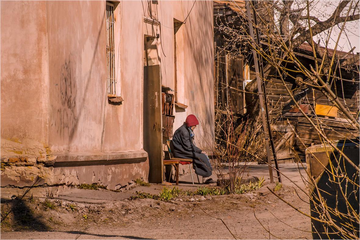 "фото ""Вот и солнышко пригрело..."" метки: стрит-фото, город, foto liubos, Россия, Томск, весна, сибирь"
