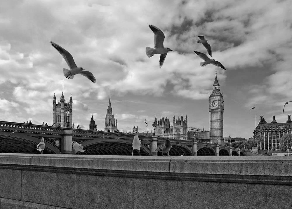 "photo ""London, UK"" tags: travel, architecture, black&white, Europe, London, city."