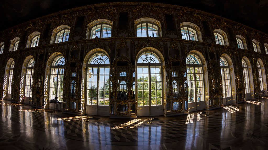 "photo ""Great Hall in the Catherine Palace"" tags: panoramic, interior,"