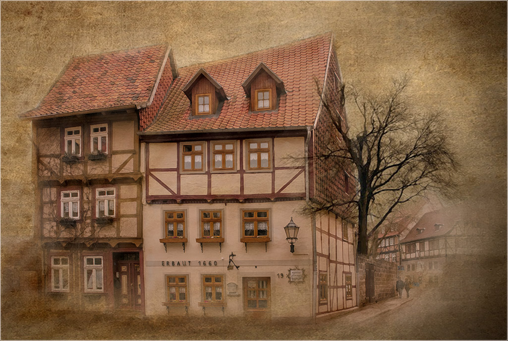"фото ""Кведлинбургская  открытка"" метки: архитектура, город, ретро, foto liubos, Европа, германия, дома, кведлинбург, старый город, фахверк"
