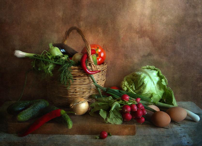 """фото """"Овощи"""" метки: натюрморт, овощи, яйца"""