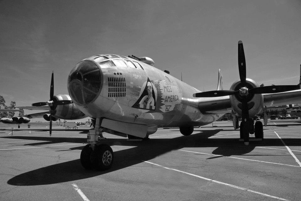 """фото """"B-29"""" метки: ретро, техника, черно-белые,"""