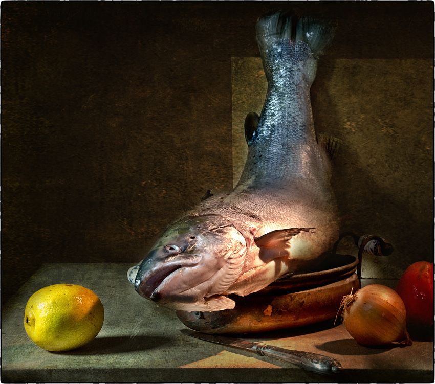 "photo ""With salmon"" tags: still life, old-time,"
