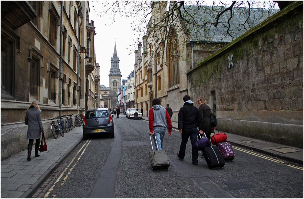 """фото """"Город студентов и велосипедов."""" метки: город, стрит-фото, Оксфорд"""
