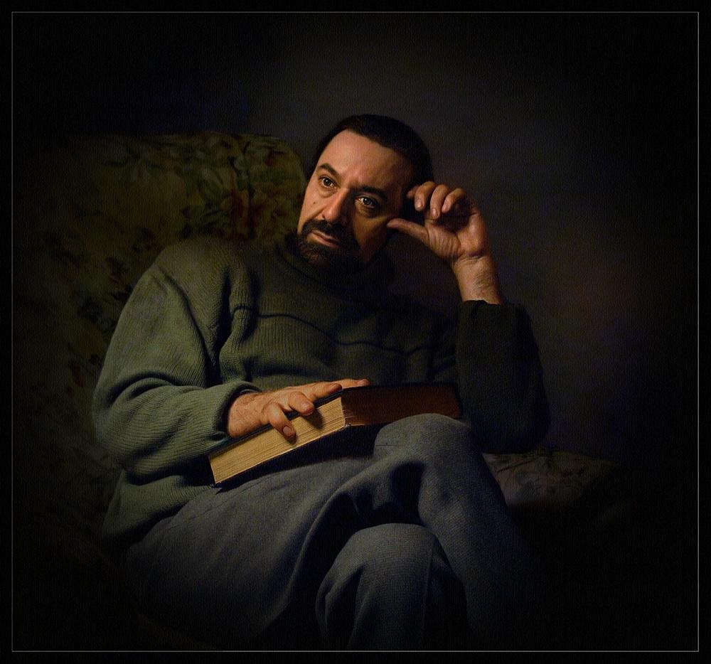 "фото ""Во власти мыслей"" метки: портрет, digital art, мужчина"