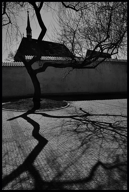 "photo ""Пражский тихое место-5"" tags: black&white, Prag, Prague, Praha"