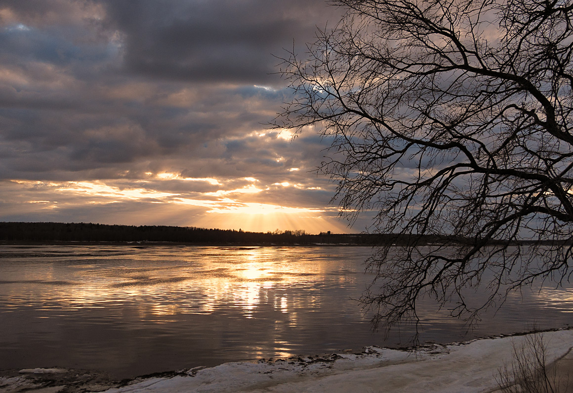 """фото """"Весенний закат"""" метки: пейзаж,"""