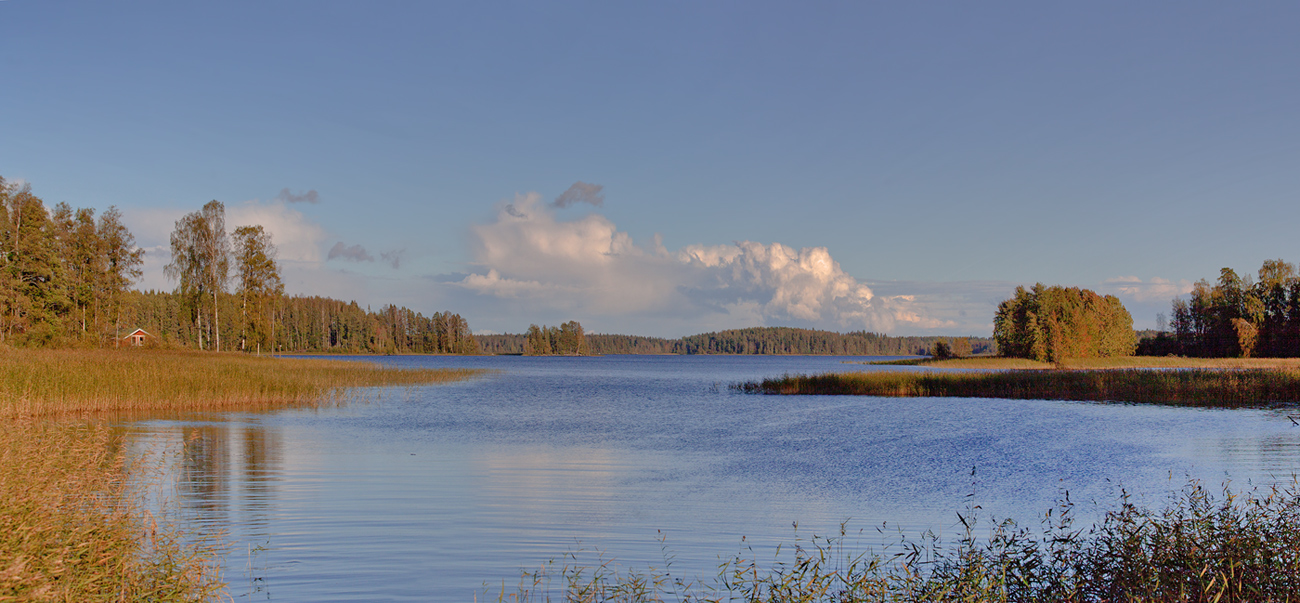 "photo ""***"" tags: landscape, nature, autumn, clouds, water"