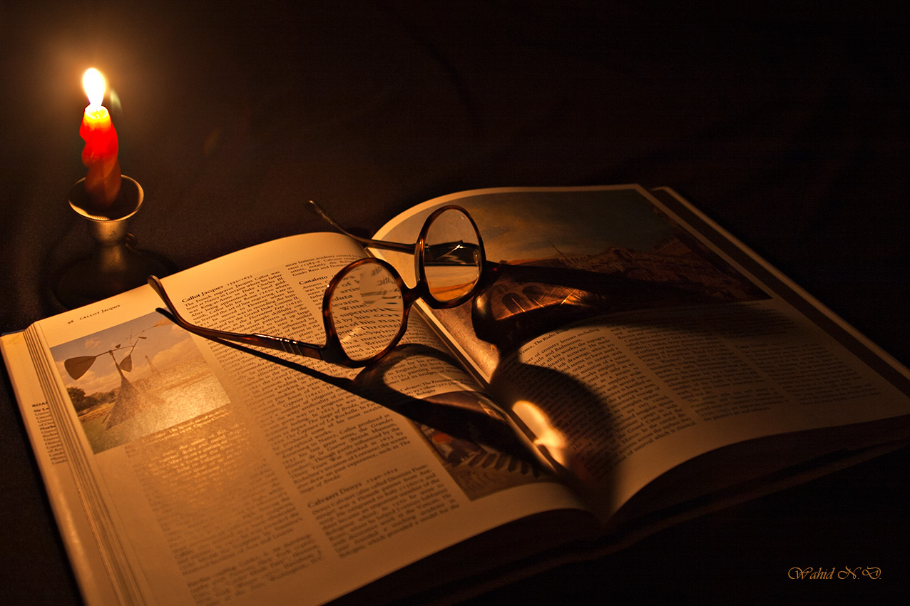 "photo ""Candle and the Book"" tags: still life,"