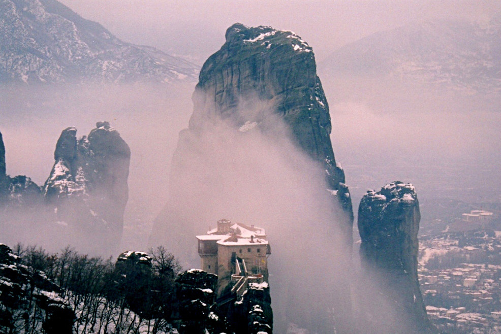 "photo ""Holy Monastery of Rousanou -Meteora Greece"" tags: landscape, travel, Greece, |Meteora"