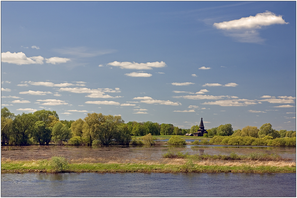 "photo ""High water in the Volkhov-river"" tags: landscape, spring, water"