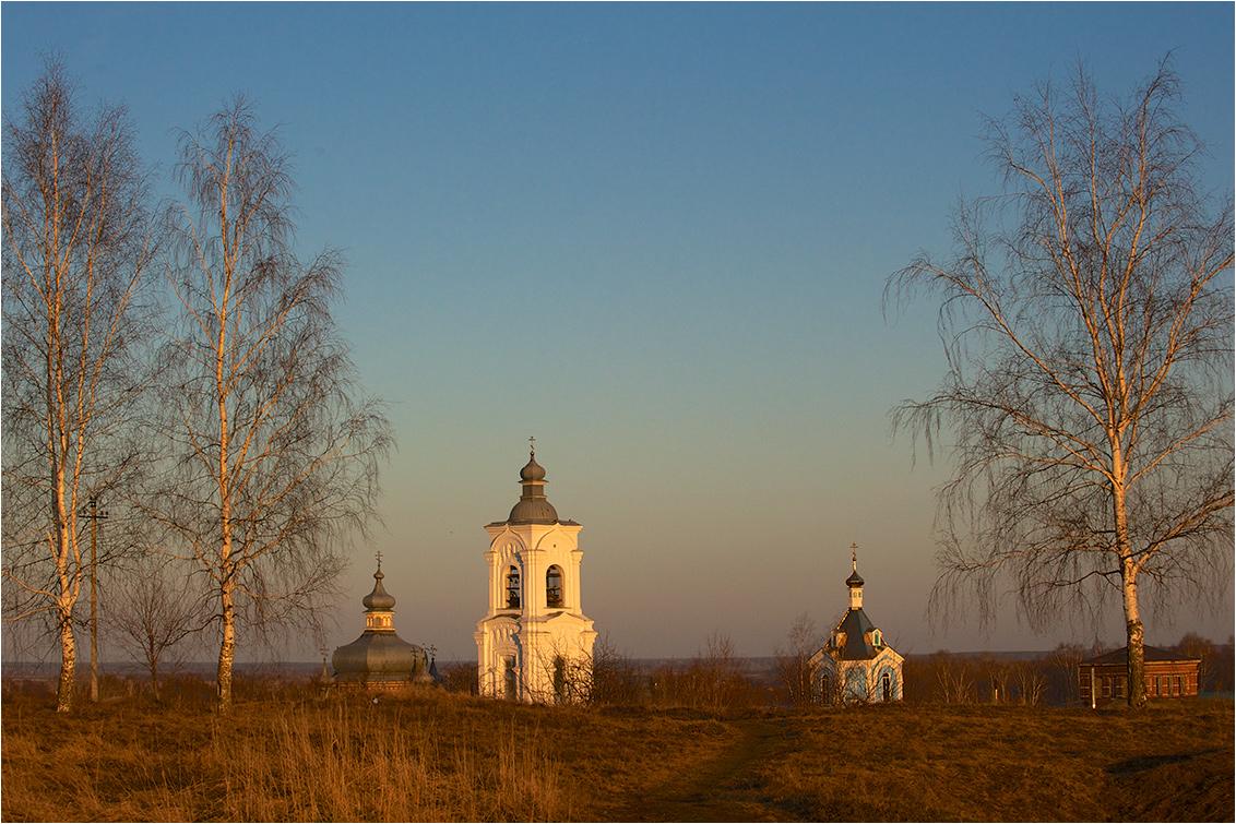 """фото """"На холме"""" метки: пейзаж, путешествия, вечер, холм, церковь"""