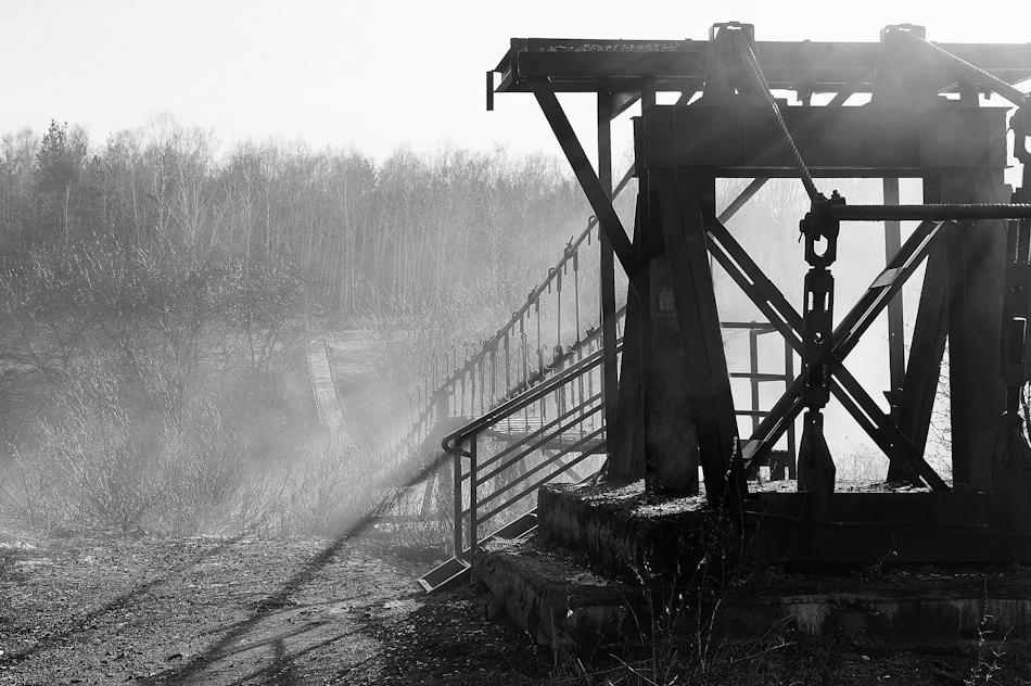 """фото """"Туман у моста"""" метки: пейзаж, черно-белые,"""