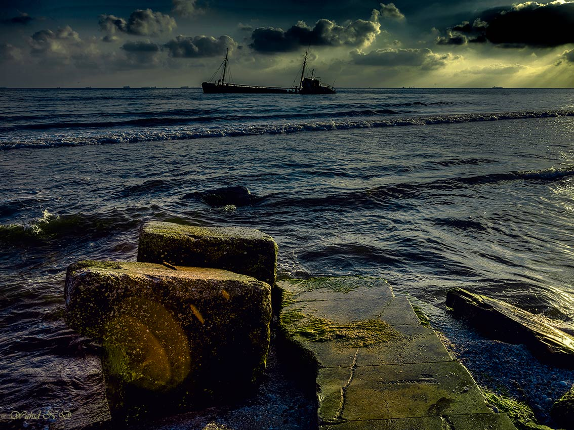 "photo ""Sea Drama"" tags: landscape, nature, genre, Africa, water"