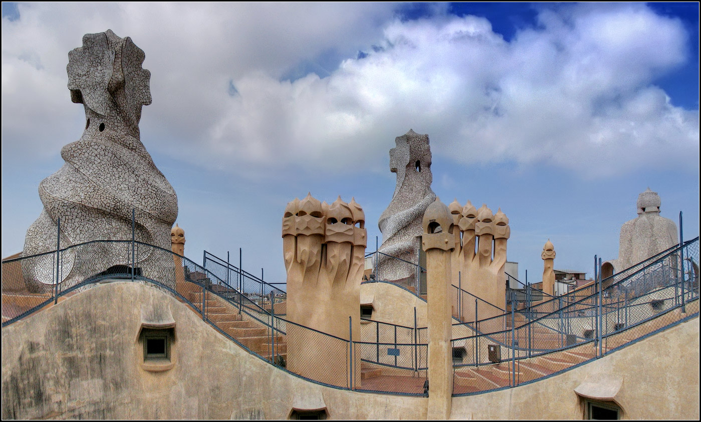 "photo ""Barcelona. Casa Mila"" tags: architecture, city, panoramic,"